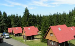 Pohled na stedisko - chaty